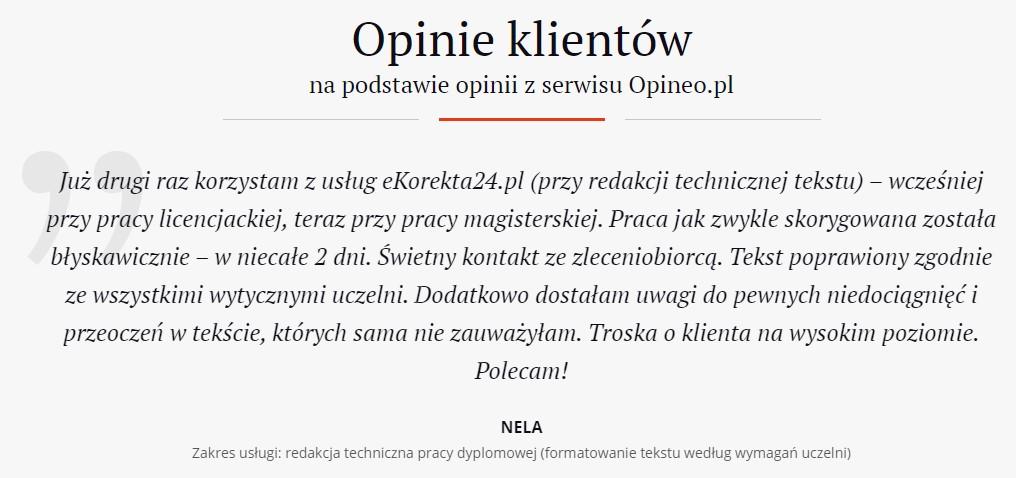 Formatowanie pracy dyplomowej opinia eKorekta24