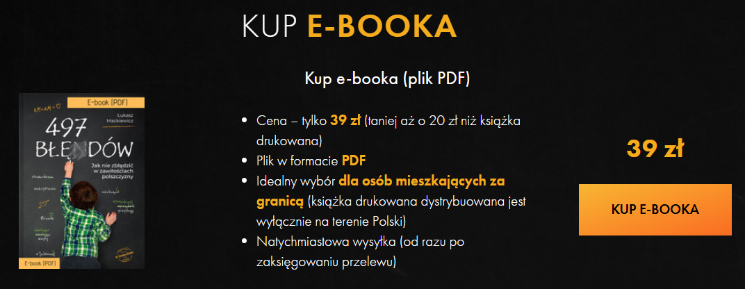 497 błędów e-book cena