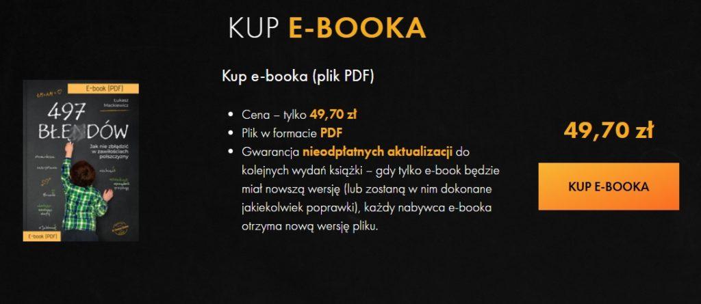 e-book 497 błędów cena